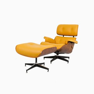 Vintage Lounge Chair & Ottoman by Charles & Ray Eames for Vitra, Set of 2