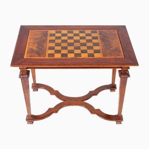 Tavolino da scacchi in noce e backgammon, fine XVIII secolo