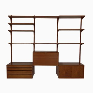 Danish Teak 16-Piece Modular Wall Unit by Poul Cadovius for Cado, 1960s, Set of 16