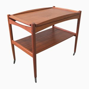 Danish Teak Bar Trolley by Poul Hundevad, 1960s