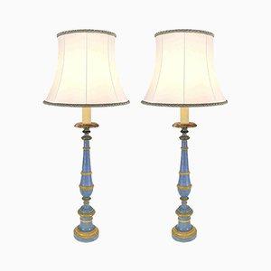 Antike Kerzenständer Tischlampen, frühes 19. Jh., 2er Set