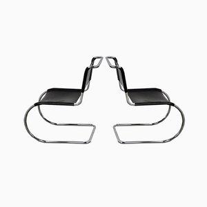 Vintage Bauhaus Chrom MR 10 Beistellstühle von Ludwig Mies van der Rohe für Thonet, 2er Set