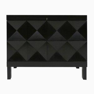 Black Stained Oak Cabinet by De Coene for De Coene, 1970s