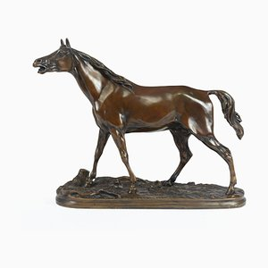 Bronze Horse Sculpture by Mene, 1856