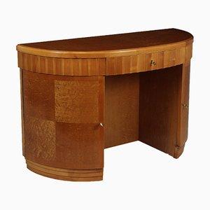 Art Deco Birdseye Maple Desk, 1930s