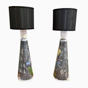 Scandinavian Ceramic Table Lamps, 1960s, Set of 2
