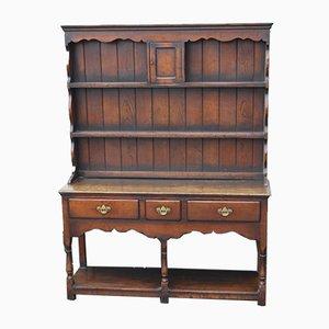 Oak Dresser with Display Rack, 1960s