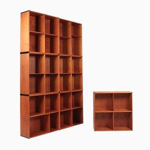 Danish Teak Bookshelves, 1960s, Set of 7