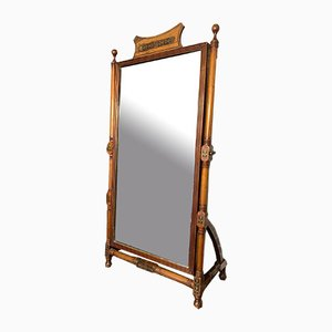 Regency Mahogany and Brass Inlaid Easel Mirror