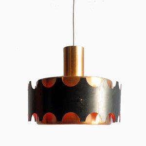Copper & Black Pendant Lamp from Doria Leuchten, 1960s
