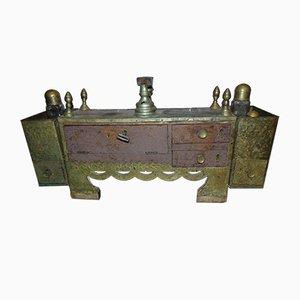 Mid-Century Art Deco Brass Shoe Shine Box