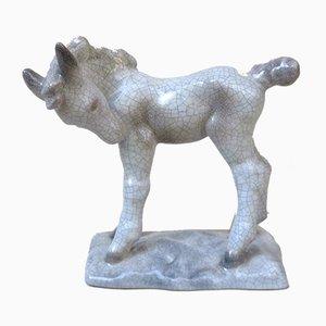 Vintage Ceramic Foal by Lilli Hummel-König for Karlsruher Majolika, 1934