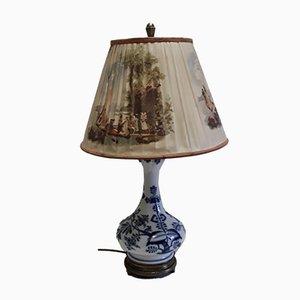 Lampada da tavolo antica in porcellana e bronzo di Meissen, anni '30