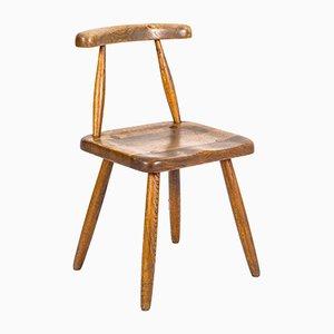Vintage Scandinavian Oak Side Chair, 1950s