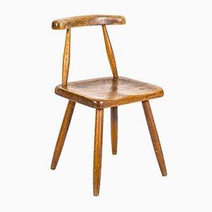 Skandinavischer Vintage Beistellstuhl aus Eiche, 1950er