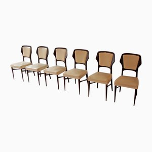Rosewood Dining Chairs by Vittorio Dassi for G. Cecchini e C. Lissone-Seregno-Cantu, 1950s, Set of 6