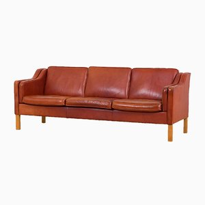 Brown Leather Sofa from Mogens Hansen, 1970s