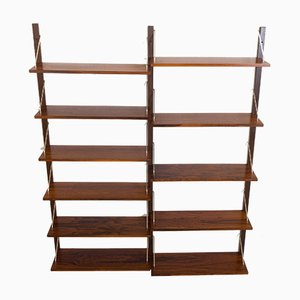 Rosewood Wall Unit in the Style of Poul Cadovius, 1970s