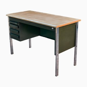 Metal & Wood Desk, 1970s