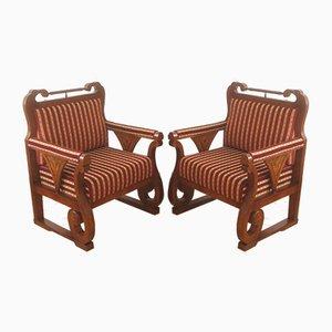 Biedermeier Armchairs, Set of 2