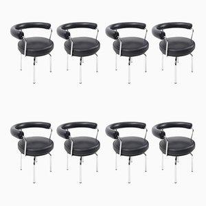LC7 Sessel von Charlotte Perriand für Cassina, 2000er, 8er Set