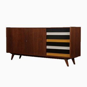 Yellow and Black U-460 Sideboard by Jiří Jiroutek for Interier Praha, 1960s
