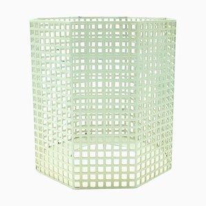 Weiße Vase von Josef Hoffmann für Bieffeplast, Italien 1980er
