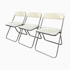 Pila Stühle von Giancarlo Piretti für Castelli, Italien, 3er Set