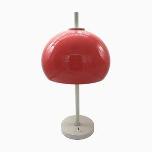 Rote Mushroom Tischlampe, Italien, 1970er