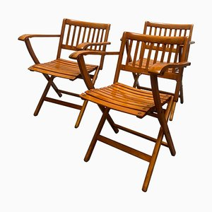 Folding Chairs by F. lli Reguitti, Set of 3, Italy, 1860s