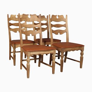 Model Razorblade Dining Chairs by Henning Kjærnulf, Set of 4