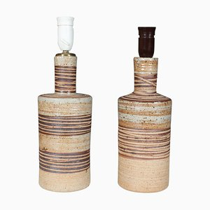 Stoneware Table Lamps by Tue Poulsen, Set of 2