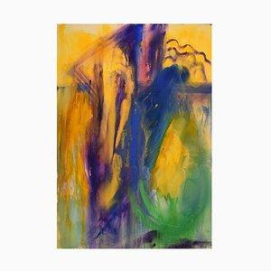 Ivy Lysdal, Gouache sur Carton, Peinture Abstraite Moderniste, Fin 20ème Siècle
