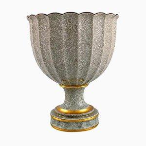 Art Deco Crackle Vase mit Gold Dekoration von Royal Copenhagen