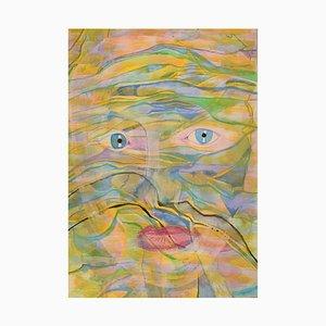 Ivy Lysdal, Gouache auf Karton, Moderne Malerei, Spätes 20. Jh.