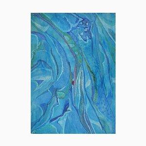 Edera Lysdal, guazzo su cartone, pittura modernista astratta