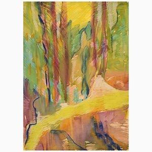 Ivy Lysdal, Guazzo su cartone, Pittura modernista astratta, fine XX secolo