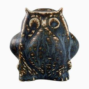 Stoneware Owl Figure by Carl Harry Stålhane for Rörstrand