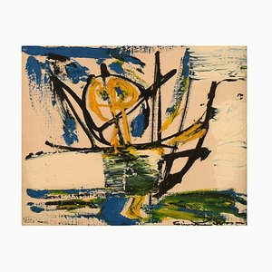 Einar Person, Schweden, Öl auf Leinwand, Abstrakte Komposition, 1960er