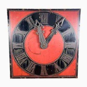 Vintage Industrial Metal Church Clock