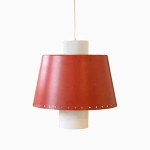 Dutch Pendant Lamp in Red and White