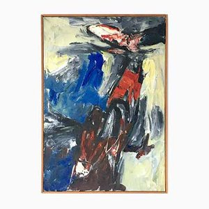 JC Verweij, Abstract Expressionist Painting, 1960, Oil on Canvas