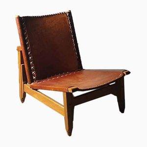 Cognac Leather Chair by Werner Biermann, 1965