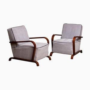 Art Deco Scandinavian Club Chairs, 1920s, Set of 2