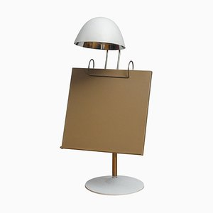 White Table Lamp with Tablet / Book Stand by Falkenberg Belysning, 1960s