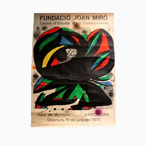 Exhibition Poster by Joan Miro, 1975