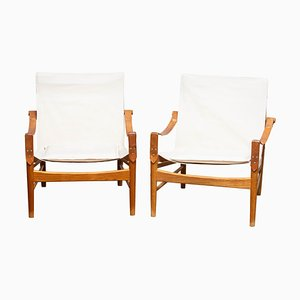 Safari Chairs by Hans Olsen for Whisper Furniture, Sweden, 1960s, Set of 2