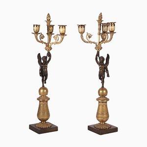 Napoleon III Style Candlesticks, Set of 2