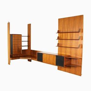 Veneered Wood Ebonized Cabinet, Italy, 1960s