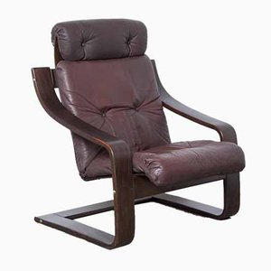 Anne Brown Leather Armchair